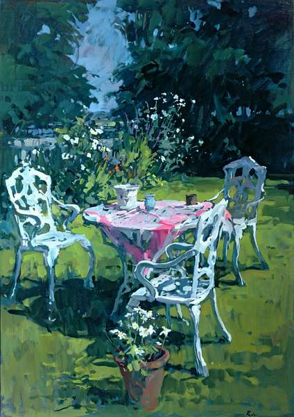 White Chairs at Belchester, 1997 (oil on canvas)