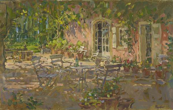 Shaded Table, Le Thor (oil on canvas)