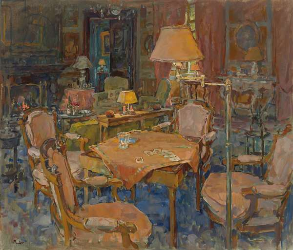The Card Table, L'Eveche