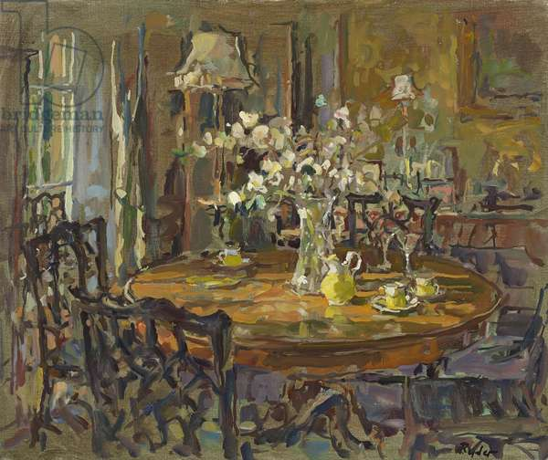 The Small Dining Room (oil on canvas)