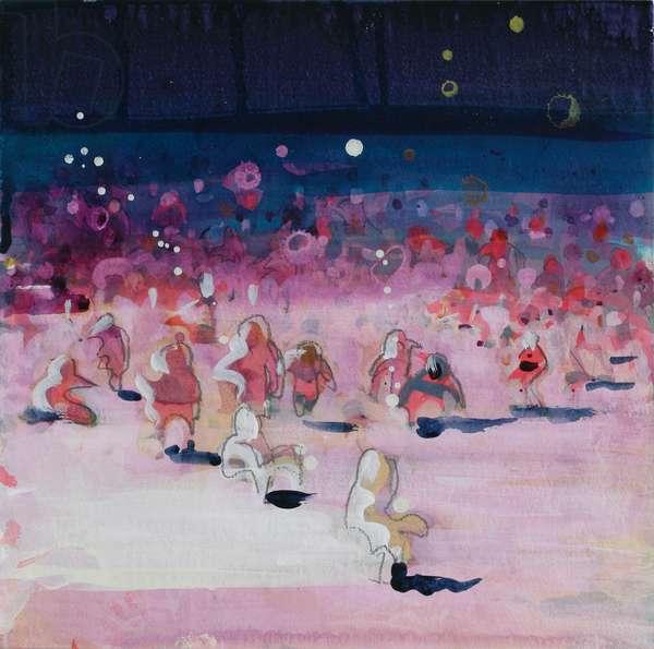 Fluorescent Beach 1, 2004 (acrylic on paper)