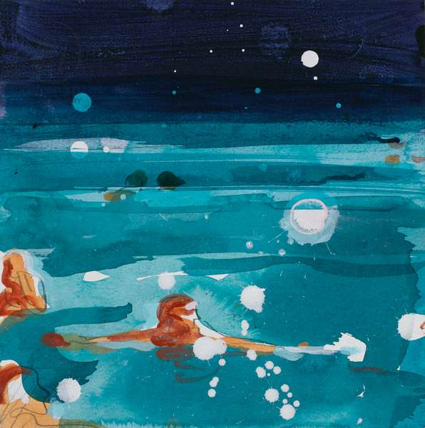 Swimmers 1, 2004 (acrylic on paper)