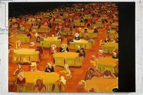 Swarm 2, 2008 (acrylic on canvas)
