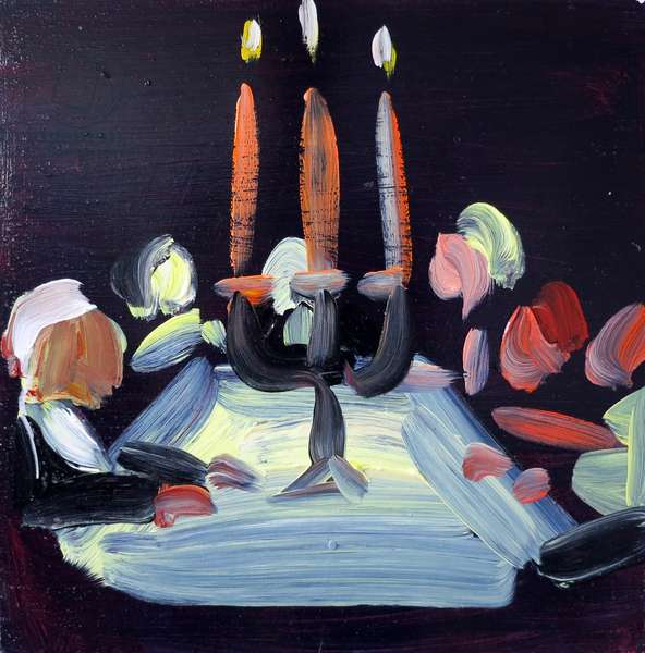 Candles 2, 2017 (acrylic on board)