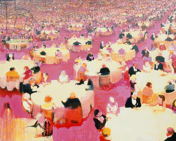 Hotel Dining Room, 2004 (acrylic on canvas)