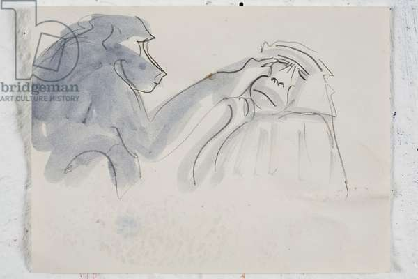 Baboons 2, 2008 (acrylic & pencil on paper)