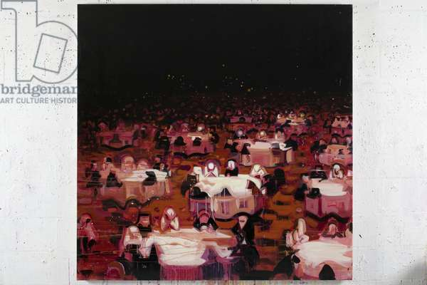 Red Dining Room 9, 2008 (acrylic on canvas)