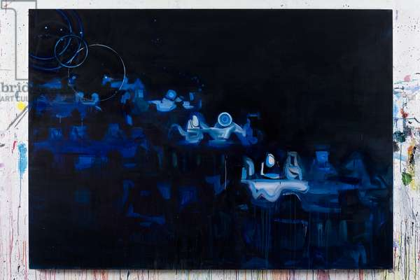 Blue Dining Room 2, 2007 (acrylic on canvas)