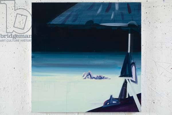 Blue Umbrella, 2006 (acrylic on canvas)