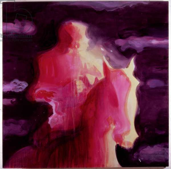 Pink Rider, 2002 (acrylic on paper)