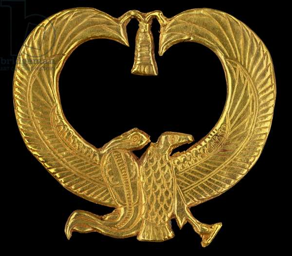 gold amulet from Psusennes I's mummy