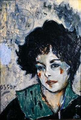 Marcella, Portrait of a Woman, 1981 (oil on board)