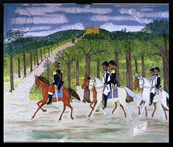 Jean-Jacques Dessalines - the way to his head-quarters at Crete-a-Pierrot