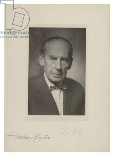 Walter Gropius (b/w photo)