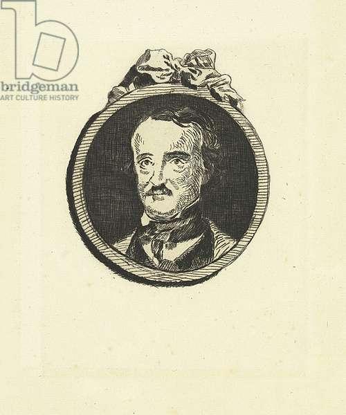Edgar Poe, 1860 (etching)