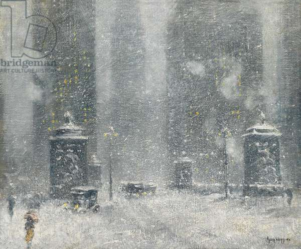 Chicago Blizzard, 1920s (oil on canvas)