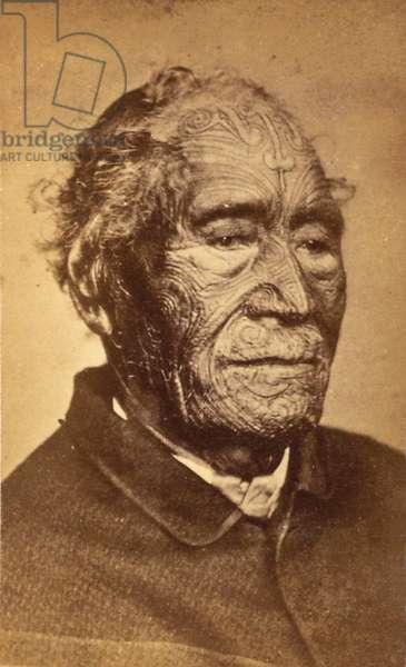 Portrait of a man, 1870s-80s (b/w photo)