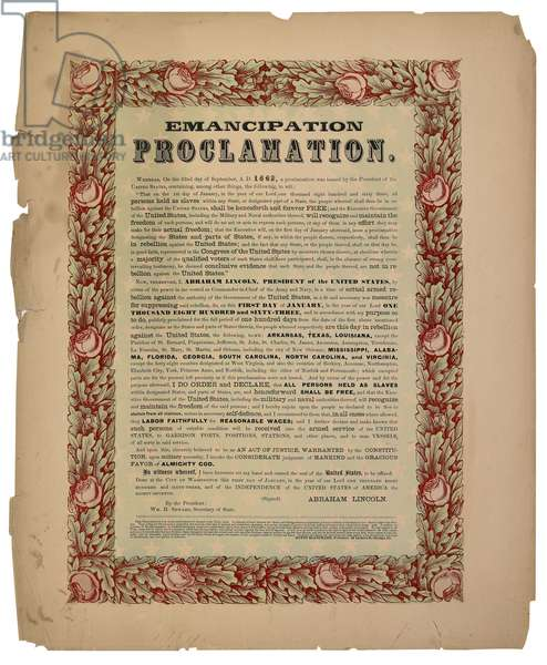 Emancipation Proclamation, published in 1864 (print)