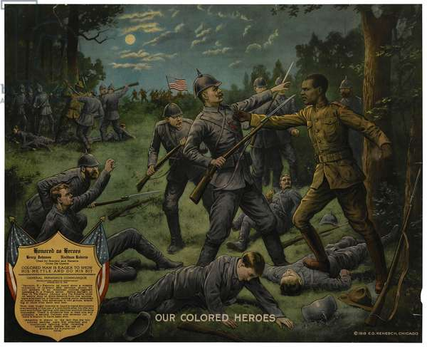 Our Colored Heroes, 1918 (chromolitho)