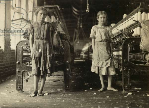 Untitled (two girls in a factory), c.1908-12 (gelatin silver print)