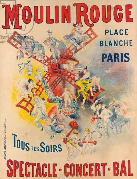 Poster advertising the Moulin Rouge, 1891 (colour litho)
