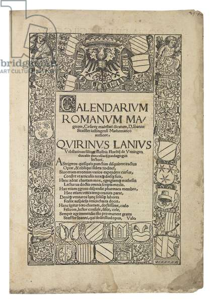 Calendarium Romanum Magnum, 1518 (ink on paper) (see also 363082 and 363084)