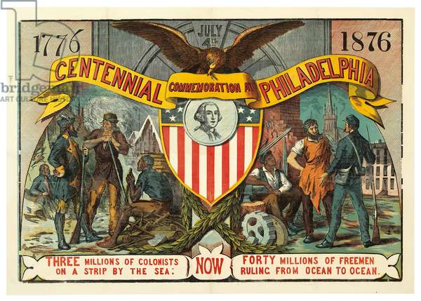 Centennial Commemoration at Philadelphia, 1876 (colour woodcut)