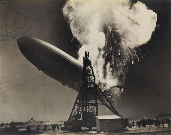 The Hindenburg disaster, 6th May 1937 (silver print)