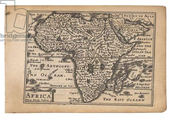 Map of Africa from 'A Prospect of the Most Famous Parts of the World' by Speed, van den Keere and Humble, 1646 (engraving)