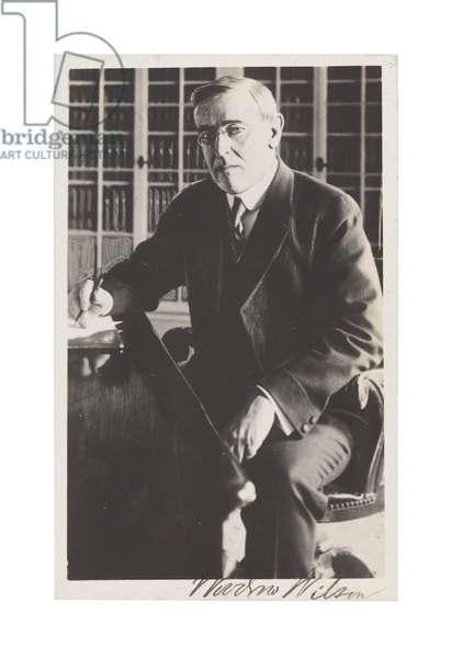 Woodrow Wilson (b/w photo)