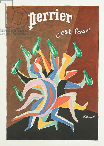 Perrier, c'est fou..., c.1979 (colour litho)