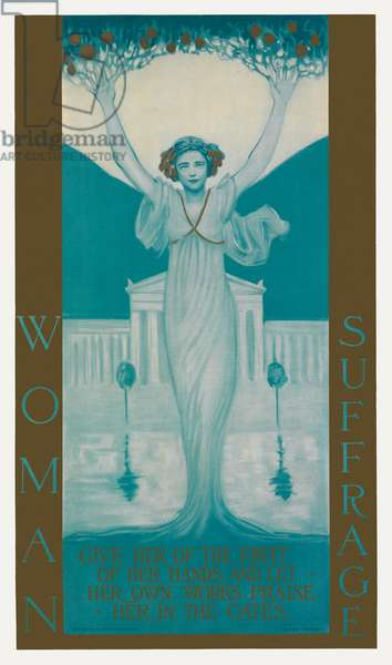 Poster for Woman Suffrage, c.1905 (colour litho)