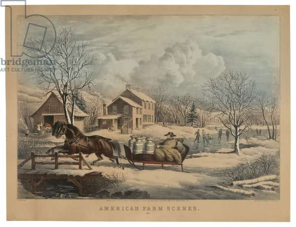 American Farm Scenes No. 4, printed and published by Nathaniel Currier (1813-88), 1853 (hand-coloured litho)