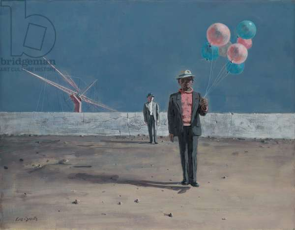 Man with Balloons, 1960 (Oil on linen canvas)