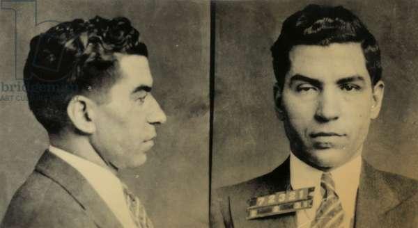 Mug shot of Charles 'Lucky' Luciano, 1931 (silver print)