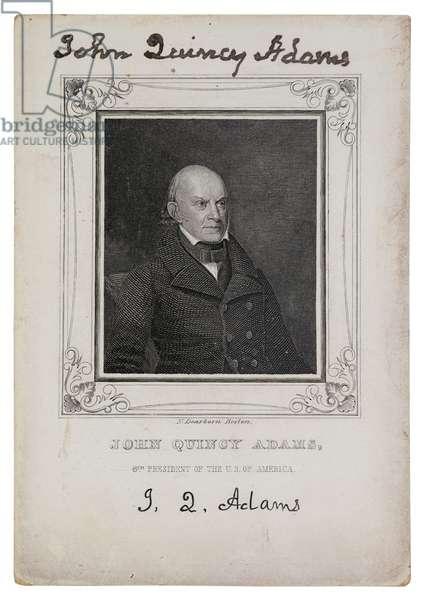 Portrait of John Quincy Adams, c.1825 (engraving)
