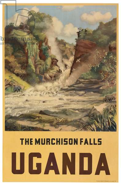 The Murchison Falls, Uganda (colour litho)
