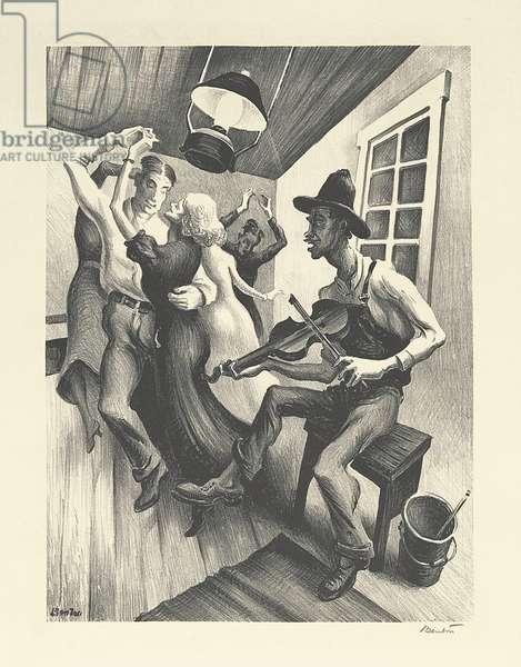 I Got a Gal on Sourwood Mountain, 1938 (litho)
