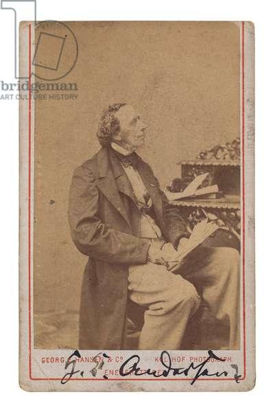 Hans Christian Andersen (b/w photo)
