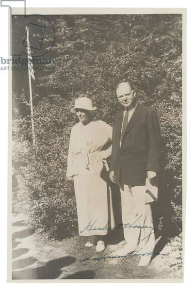 Herbert and Lou Henry Hoover (b/w photo)