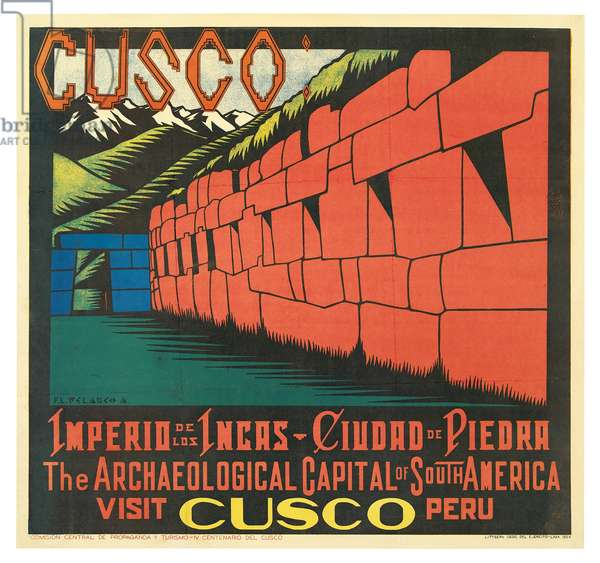 Poster advertising Cusco, Peru (colour litho)