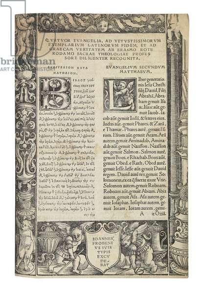 Novum Instrumentum Omne, 1516 (ink on paper) (see also 363087)