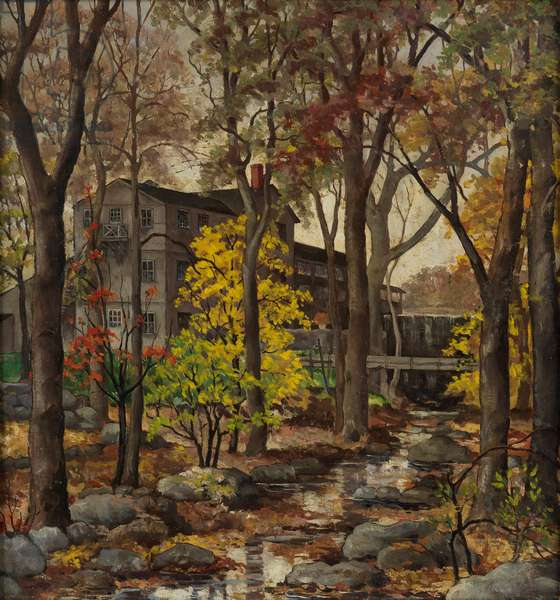 Home in the Forest, c.1950 (oil on panel)