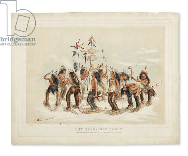 The Snow-Shoe Dance, to Thank the Great Spirit for the First Appearance of Snow, published by Currier & Ives, c.1865-70 (hand-coloured litho)