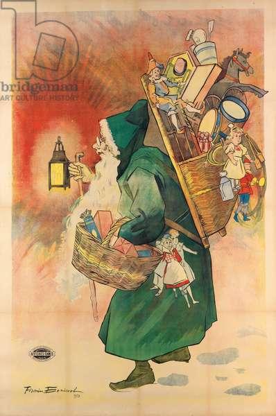 Father Christmas, 1893 (colour litho)