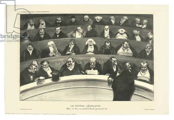 The Legislative Belly, 1834 (litho)