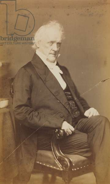 James Buchanan, from Brady's Imperial portrait series, c.1850s (albumen print)