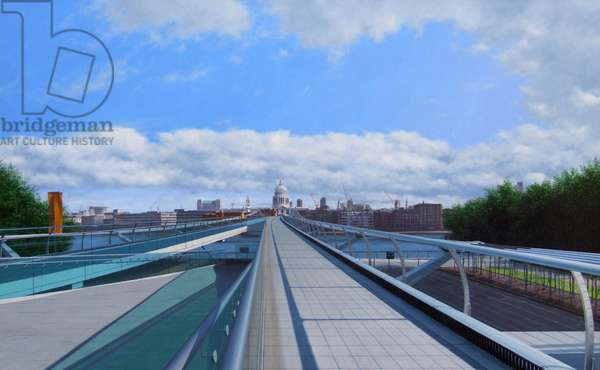 View North Over Millenium Bridge, 2007 (acrylic)