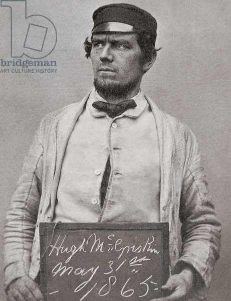 Hugh McGriskin, Fenian prisoner, 31st May 1865 (gold-toned albumen print)