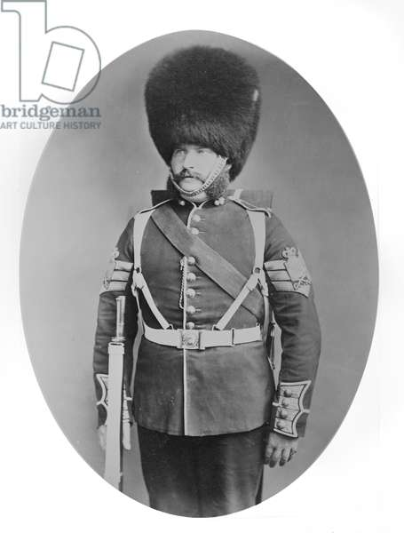 Sergeant Walls, Grenadier Guards, 1876 (gold-toned albumen print)